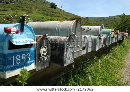 Letterboxes in a row