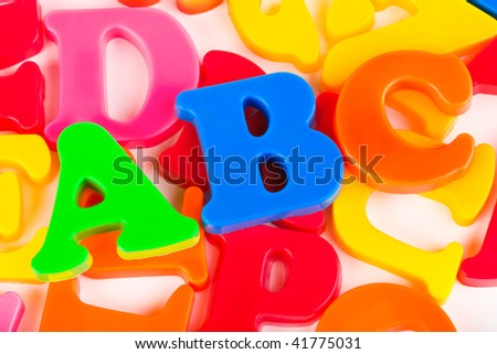 Letters ABC - abstract education background