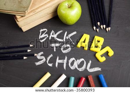 Letters, alphabet, chalkboard
