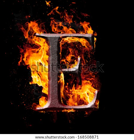 052a61ab423da Letters and symbols in fire - Letter F. Stock Photo 168508829 ...