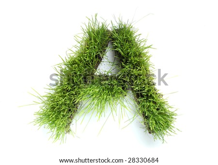 Letters made of grass - A