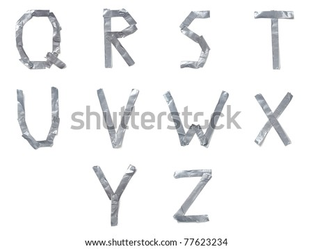 Letters made out of tape - stock photo