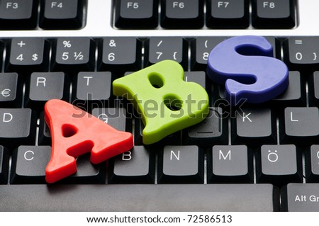Letters on the keyboard