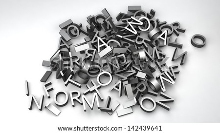 letters that make up the word 'information' Foto d'archivio ©