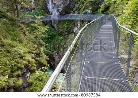 Leutasch Gorge in the German alps, Bavaria