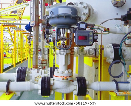 Level control valve open or closed by command form level transmitter,level gauge for monitor liquid level in the system.