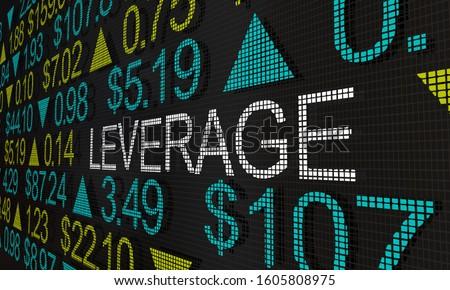 Leverage Stock Trading Financing Marginal Share Trades 3d Illustration Foto d'archivio ©