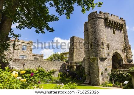 Lewes Castle, Lewes, East Sussex, England Zdjęcia stock ©