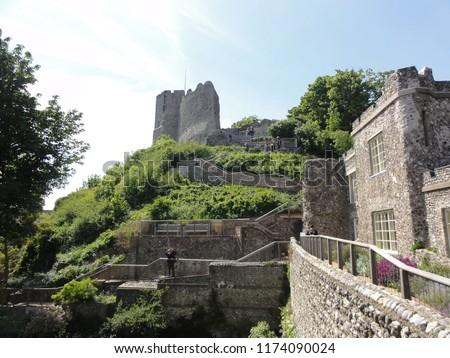 Lewes Castle (Norman Castle built 1000 years ago). Sussex, UK Great Britain Zdjęcia stock ©
