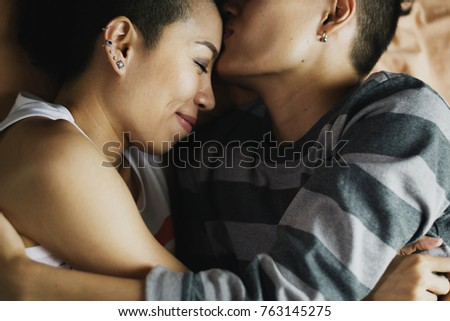 LGBT asian lesbian couple #763145275