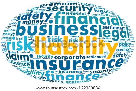 Liability Word collage on white background