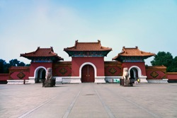 Liaoning Province, Shenyang City Beiling ancient architecture landscape