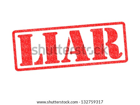 LIAR Rubber Stamp over a white background.