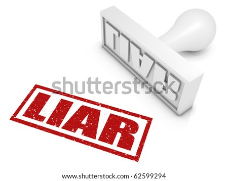 Liar rubber stamp. Part of a series of stamp concepts.