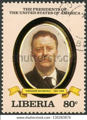 liberia   circa 1982  a stamp...