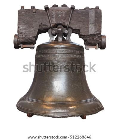Liberty Bell isolated in Philadelphia, Pennsylvania, USA.
