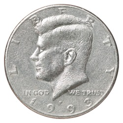 Liberty coin with the portrait of John F. Kennedy