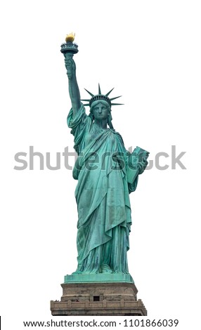 Liberty statue with isolated background #1101866039