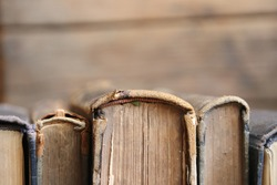 Library concept - Old books, soft focus