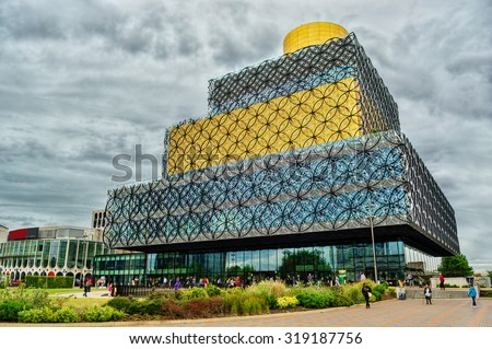 Library in Birmingham, HDR-technique