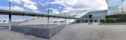 Library of Alexandria - one of the largest libraries of antiquity. Alexandria, Egypt. Panorama
