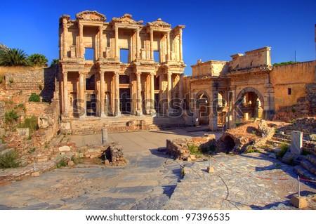 Library of Celsus, Ephesus, Selcuk, Turkey