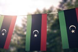 Libya flag pennants