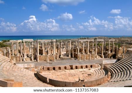 libya 10 11 2006. the ruins of...