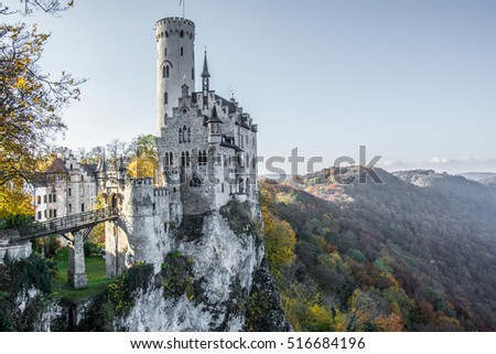 Lichtenstein Castle in Germany, Bavaria
