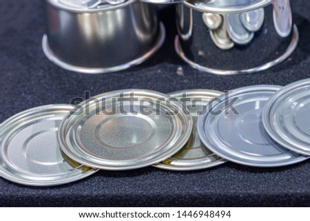 Lid of the Aluminum Cans and Aluminum tin can for food.