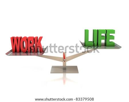life and work balance 3d concept