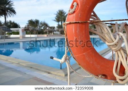 life buoy at swimming pool in tunisia
