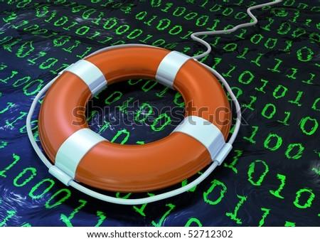 life buoy in a binary digit sea