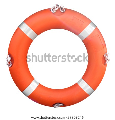 Life buoy isolated over a white background - stock photo