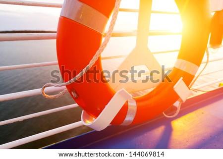 Life Buoy on a Cruise Ship