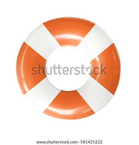 Life buoy or swim ring  isolated on white background with clipping path. ストックフォト ©