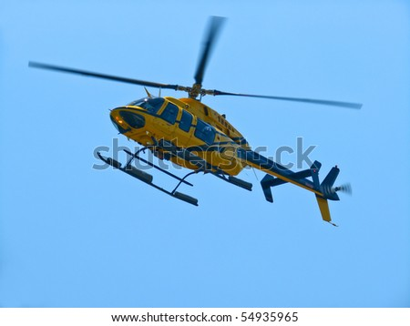 Life flight emergency medical helicopter