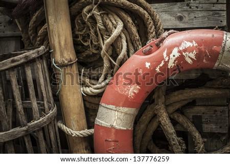 Life guard and ropes