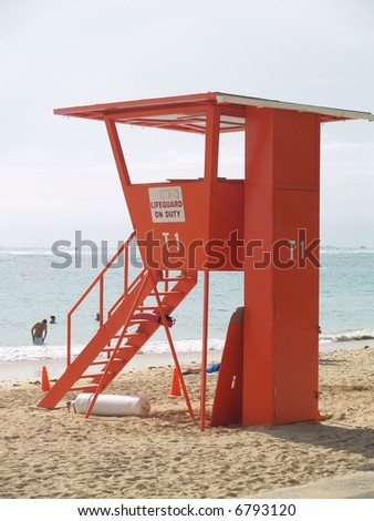 life guard on duty