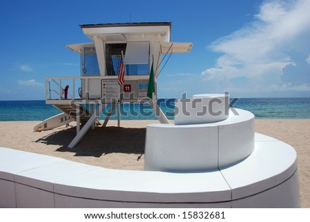 Life Guard Stand by Sea Wall