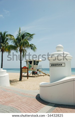 Life Guard Station at Sebastian Street, Fort Lauderdale, Florida