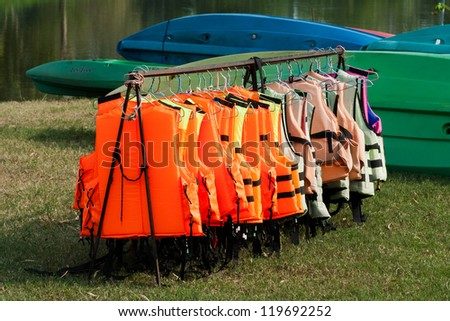 Life jacket - stock photo