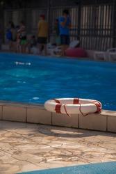 life preserver at the swimming pool