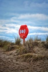 Life Preserver on the beach coastline