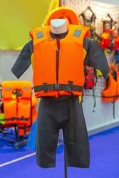 Life Preserver Orange Floating Vest Personal Safety