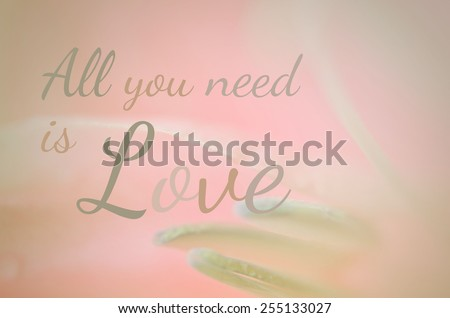 life quote. Inspirational quote. Motivational on sweet flowers in soft style for background