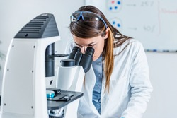 Life science researcher in laboratory