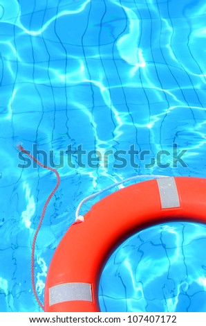 Lifebelt in swimming pool