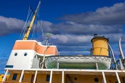 Lifeboat on Acadia Oceanographic Ship in Halifax in Halifax, Nova Scotia, Canada