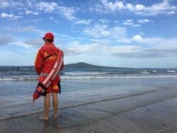 Lifeguard on the coast